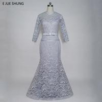 Robe De Soiree Light Grey Lace Mermaid Evening Dresses Long 2017 Mother Of The Bride Dresses