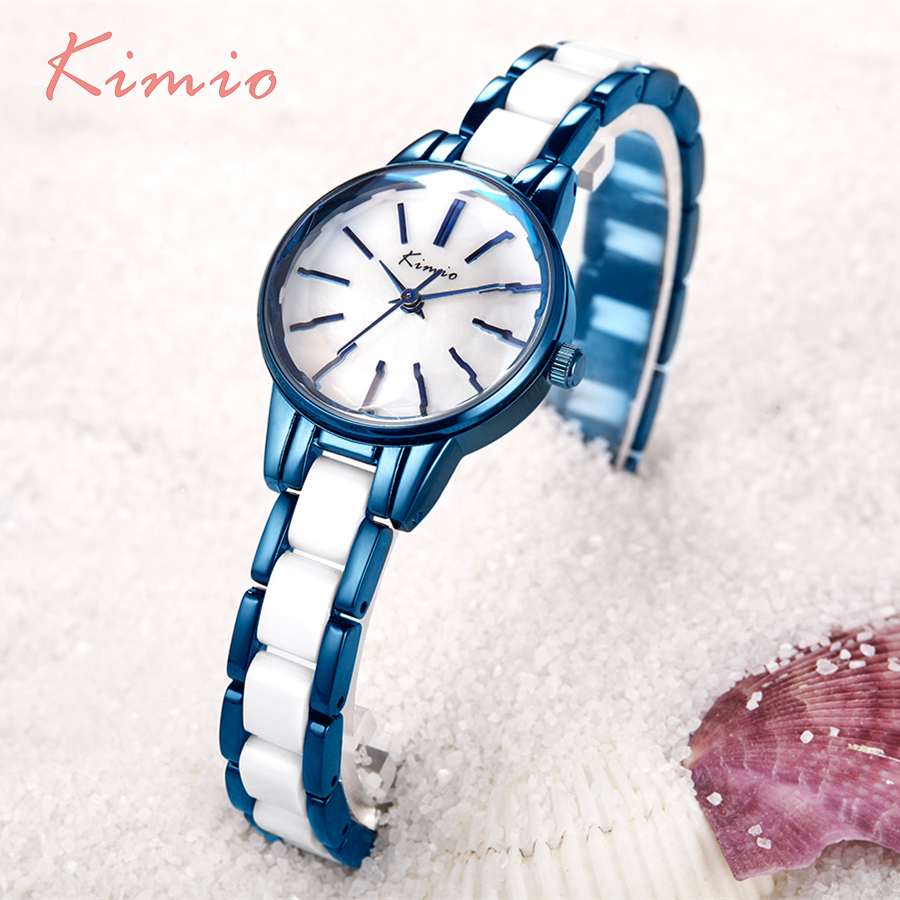 KIMIO Multi Cut Surface Strip Scale Simulation Ceramic Bracelet Women Watches 2017 Famous Brand Ladies Watch Women's Watches цены онлайн