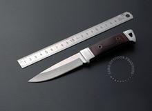 De calidad superior 440C 55HRC de la lámina nuevo color mango de madera multifuncional supervivencia que acampa del cuchillo de caza cuchillo que acampa al aire herramienta