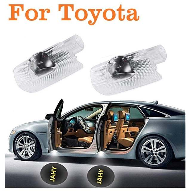 US $12 0 50% OFF|4pcs Easy to install Car door Led circle shadow light  ghost projector logo courtesy lamp Auto style Welcome light for Toyota-in