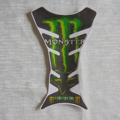 Free Shipping Green Flame Racing Motorcycle Gas Tank Pad Protector