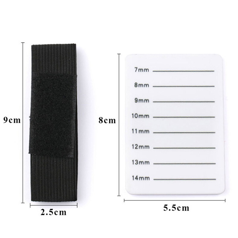 7 14mm 8 15mm Fake Eyelash Tray Strip Stand Individual Eyelash Extensions Hand Plate Eye Lash Grafting Stand Palette Makeup Tool in False Eyelashes from Beauty Health