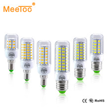 E27 LED Bulb E14 LED Lamp 220V 24 36 48 56 69 72LEDs Bombillas Ampoule LED E27 E14 Corn Light Bulbs For Home Chandelier Lighting(China)