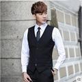 Осень и зима Британский Тонкий костюм жилет мужской костюм жилет повседневная профессиональные костюмы Корейская волна