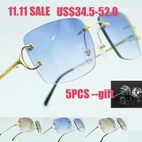 Luxury Square Sun Glasses High Quality Men Sunglasses Women Beauty Blue Lens Popular Party Eyewear Driving Carter Shade Sunglass