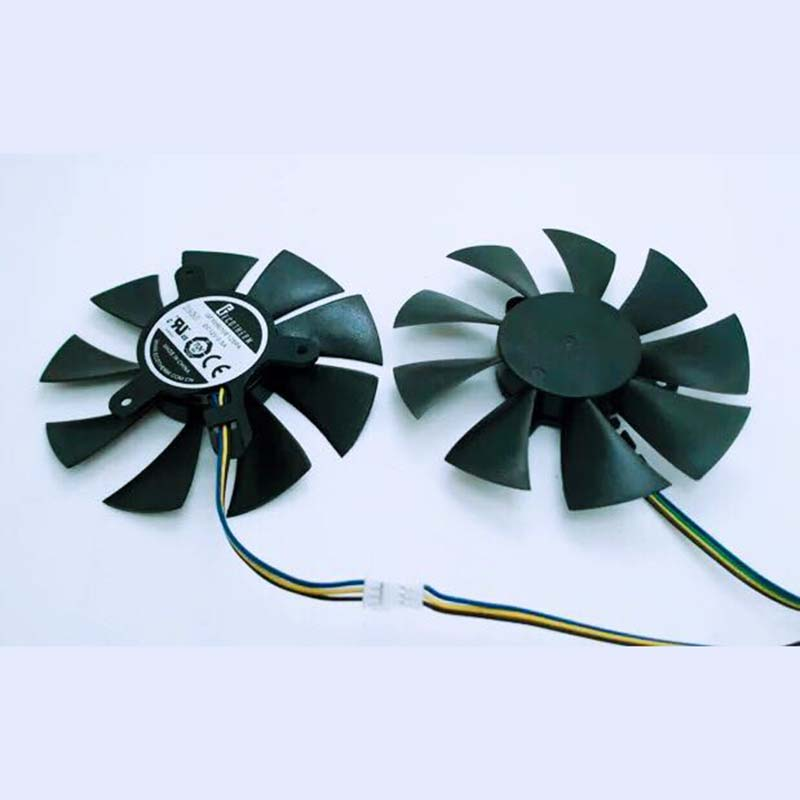 85mm 2 unids/set para Zotac GFY0910E12SPA GTX1050Ti-4GD5 GTX1060 HA 4pin PWM ventilador VGA