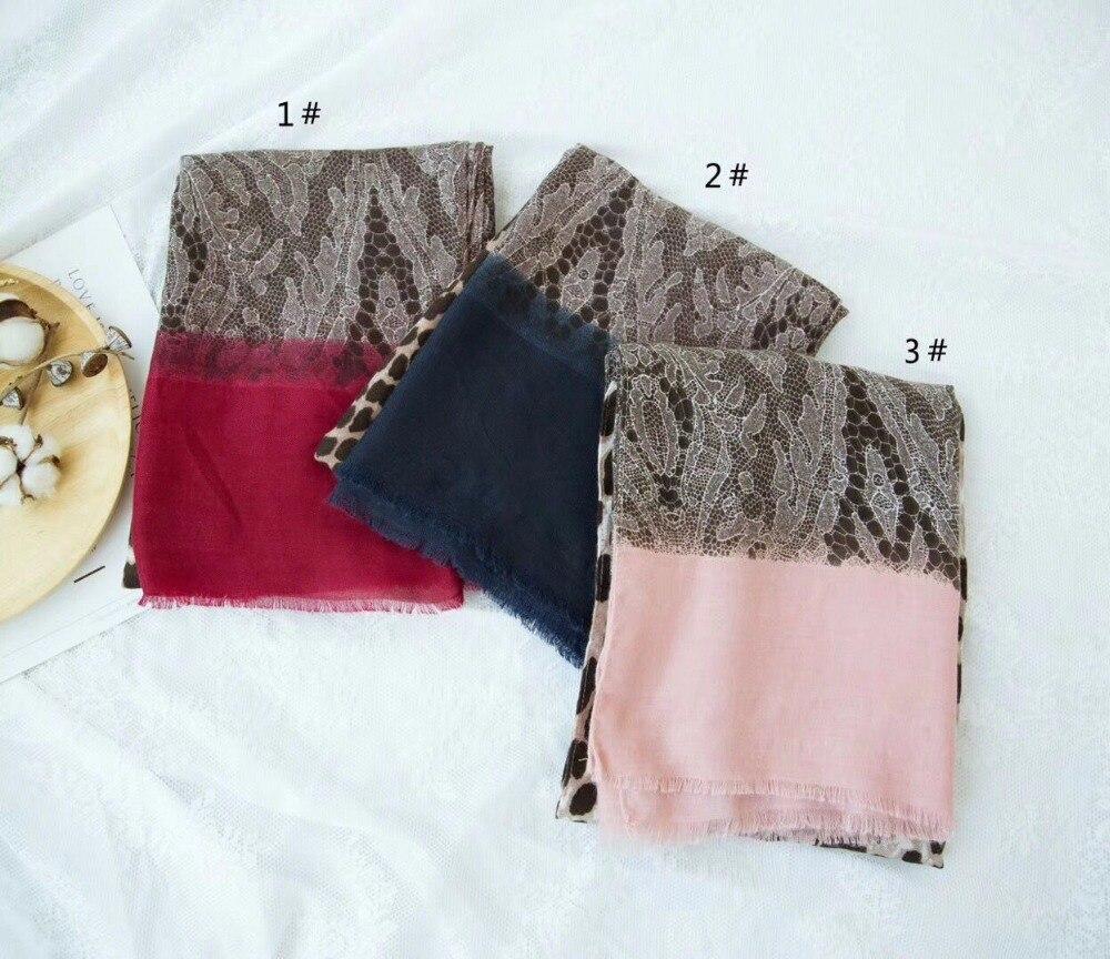Winter 2019 leopard scarf british style shawls and scarves Sjaal muslim hijab cotton scarf shawl wrap