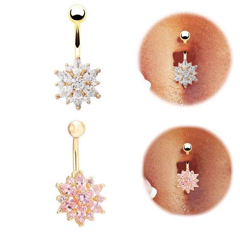 2016 Fashion Body Piercing Jewelry Cubic Crystal Gold Silver Owl