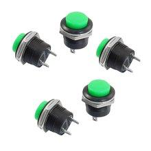 Новый Стиль 5 х Мгновенный SPST NO Зеленый Круглые Крышки Кнопочный Переключатель AC 6A/125 В 3A/250 В