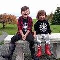 Ins * 2016 new baby дети снег шаблон хлопка вязаные свитера мальчики девочки весна осень зима топ ткань дети мода свитер