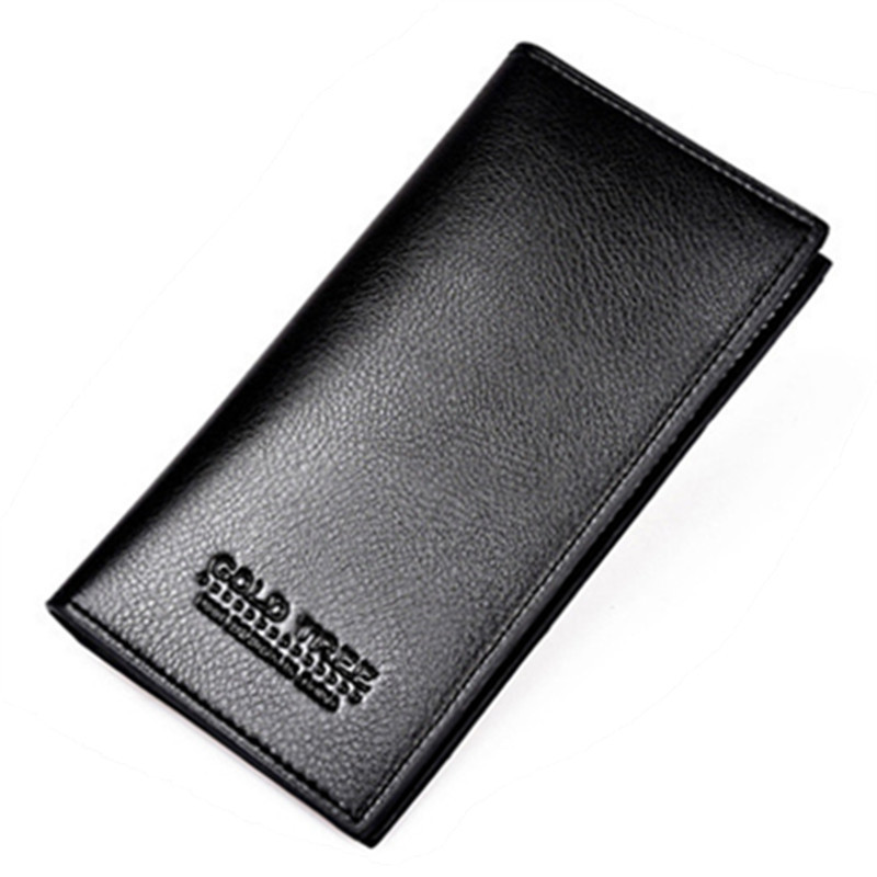 Cowhide Wallet High-Archives Male Genuine-Leather Long Package Fund