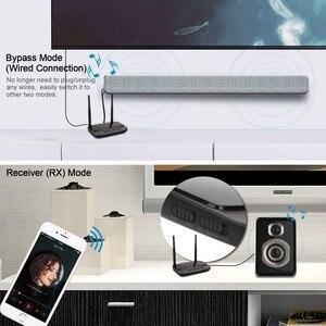 Image 4 - NFC و 262ft/80 متر طويلة المدى بلوتوث 5.0 جهاز ريسيفر استقبال وإرسال 3in1 محول الصوت الكمون المنخفض aptX HD البصرية RCA AUX 3.5 مللي متر التلفزيون
