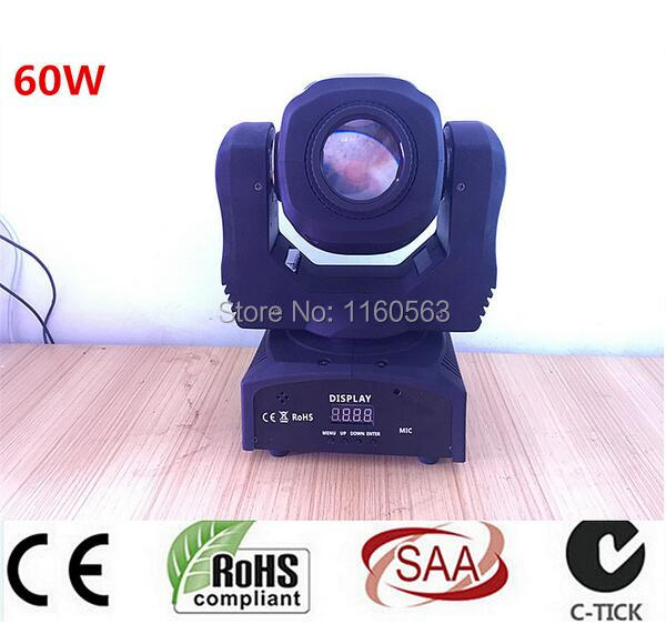 mini gobo spot 30w led moving head light with gobo plate 60W mini led spot moving head light 60W gobo moving heads lights super bright   LED DJ Spot Light