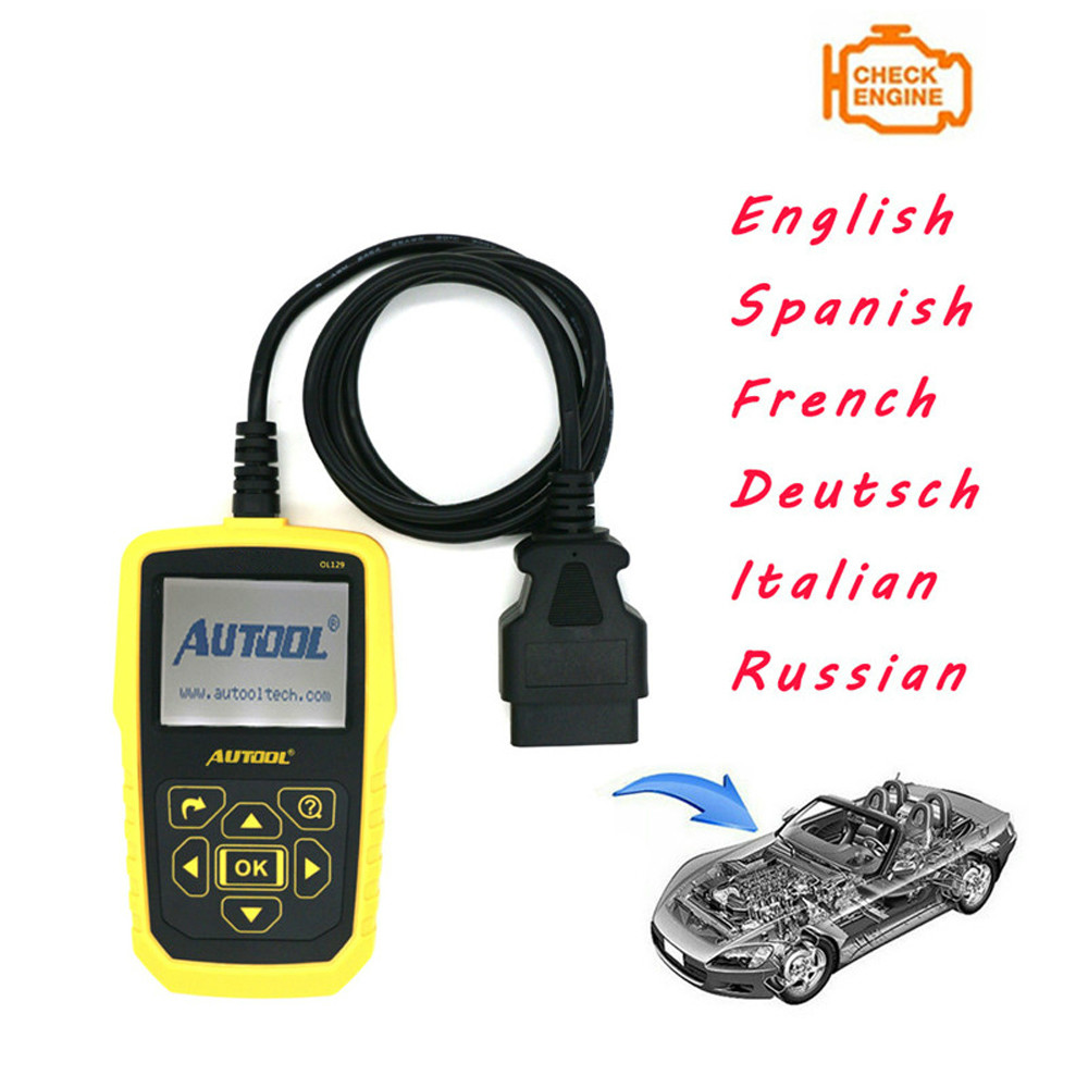 TLXC Auto Code Scanner for AUTOOL OL129 Battery Monitor and OBD/EOBD+CAN Diagnostic Tool OBD2 Live Data Stream