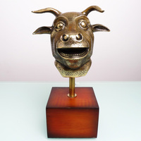 Crafts Arts Home Decoration The Chinese Zodiac Decorations Home Furnishing 12 Pure Bull Head Ornaments Crafts