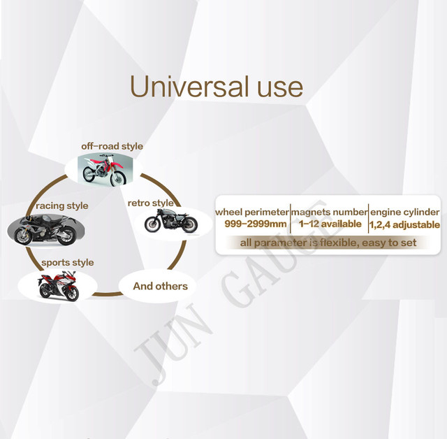 Mini speedometer, odometer KTM style universal spare parts
