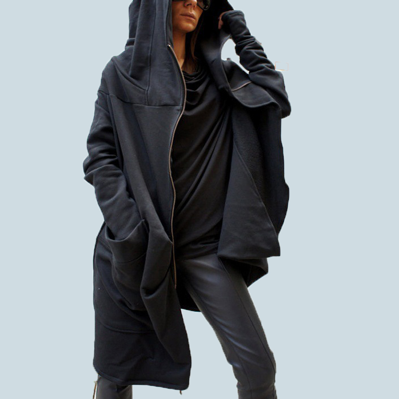 S-5XL Zanzea Women Fashion Asymmetrical hem Hooded Coat Outwear Jacket Zipper Hoodie Sweats Sweatshirt Plus