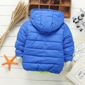 Children's autumn/winter coat Boys girls sports leisure hooded cotton-padded clothes 2-7 years Baby comfortable warm coat
