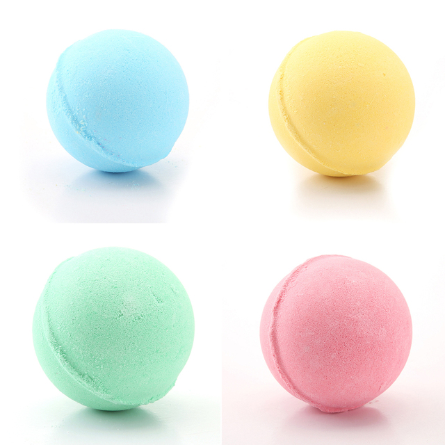 1pc Bomb Shape Deep Sea Bath Salt Body Bath Ball Natural Bubble Bath Bombs Ball Rose/Green tea/Lavender/Lemon/Milk random 4