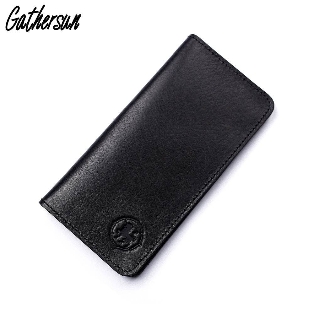 Retro Wallet Men Genuine Leather Wallet High Quality Men's Long Brown Wallet Purses Card Holder Male Clutch Bags New Arrival hot sale genuine leather wallet men purses vntage high quality lether men wallet brand card holder wallet free shipping