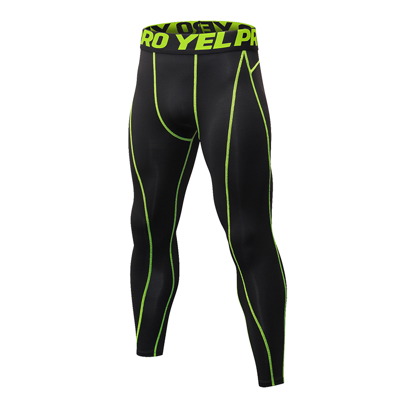 YD European Size Compression Trousers Solid Men Skinny Leggings Just Fitness Bodybuilding Gym Sweatpants Elastic Running Pants