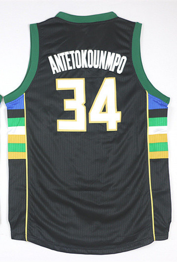 a9a1c735dff Wholesales 2015 2016 New  34 Giannis Antetokounmpo Black Jersey Stitched  Basketball Jerseys Shirt Uniform Mix Order-in Basketball Jerseys from  Sports ...