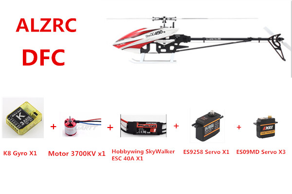 ALZRC - Devil 450 Pro V2 SDC/DFC Super Combo 450 PRO DFC Helicopter alzrc 450 helicopter devil 450 pro v2 fbl kit silver