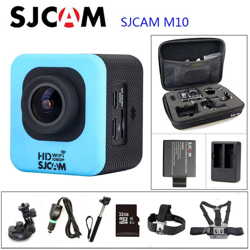Prix pour D'origine SJCAM M10 WiFi Action Camera Plongée 30 M Étanche Caméra Sous-Marine 1080 P Sport Caméra Connecteur Ensemble