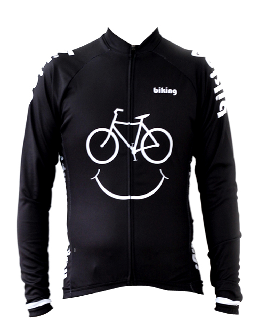 Black Smile Bikes Cycling shirt bike equipment Mens Long Sleeve Cycling Jersey Cycling Clothing Bike Shirt Size 2XS To 6XL ILPAL new 17 black red spider mens breathable bike clothing polyester autumn long sleeve cycling jerseys size 2xs to 6xl