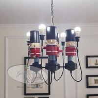 Британские солдаты английский Американский мягкие наборы подвесной светильник для мальчиков и девочек детские комнаты спальня подвесной