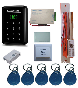 ФОТО Complete Single Glass Door 125Khz  RFID  Access Control System Kit with Electric Dropbolt Lock
