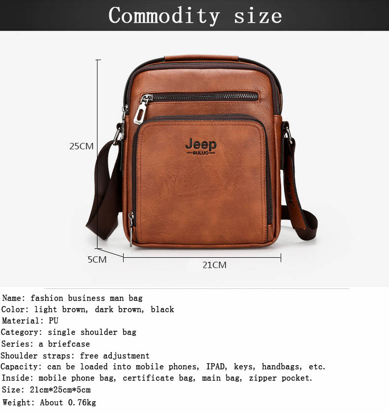 5793ab4fa7 New Jeep Fashion Men s Single Shoulder Bag Retro Men Slant Bag PU Leather Messenger  Bag Male Bussiness Briefcase Tote Bag JEEPUSD 16.31 piece