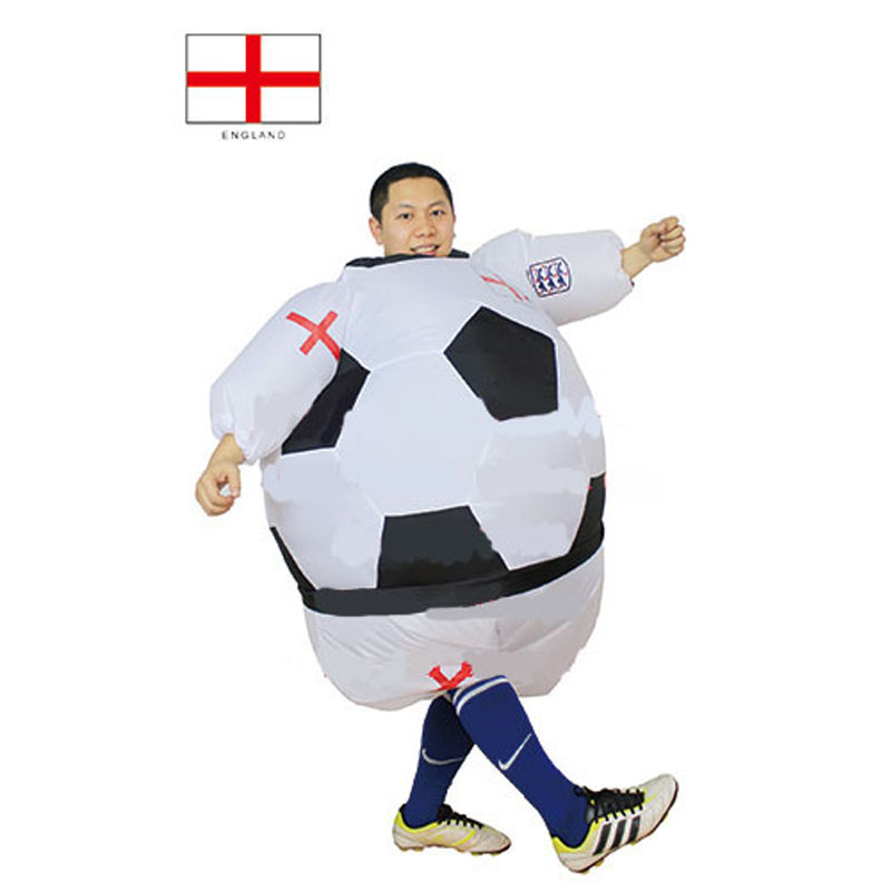 New Styles Soccer England inflatable foot ball costume Britain suit foot ball inflatable costume United Kingdom For Adult