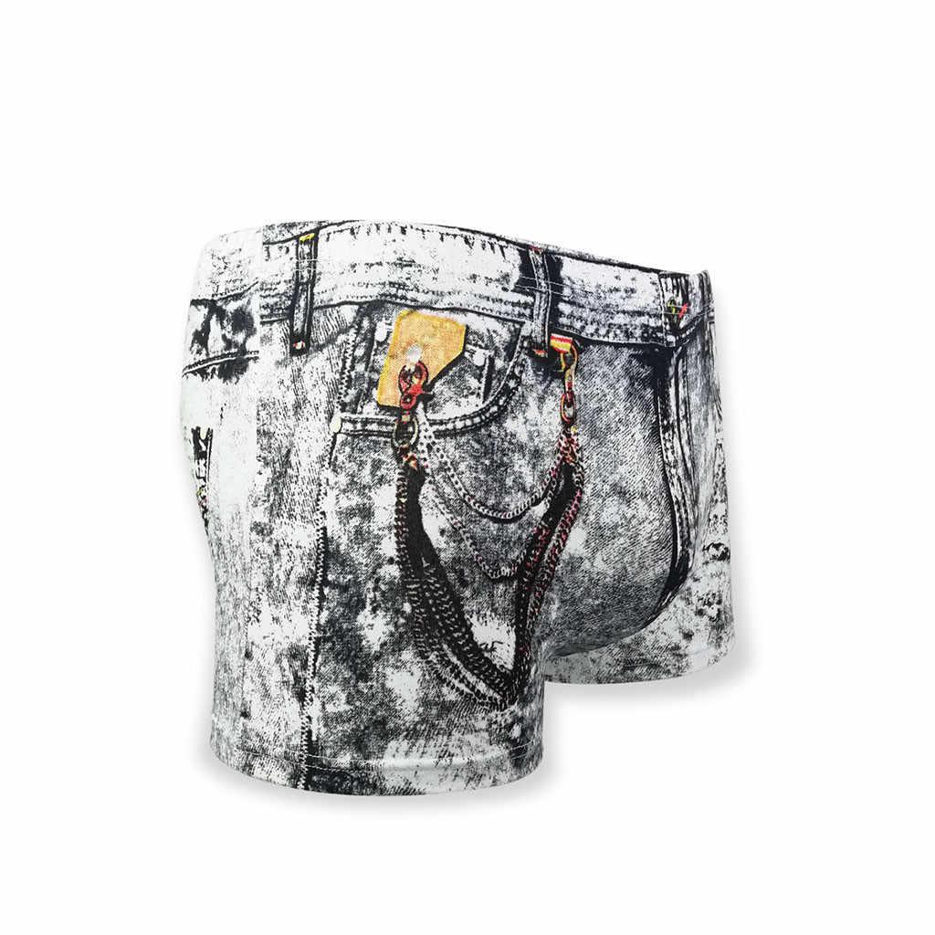 Mężczyźni krótki moda męska Sexy Denim drukowane dolara kieszeni bokserki spodenki spodnie kalesony ubrania letnie Modis