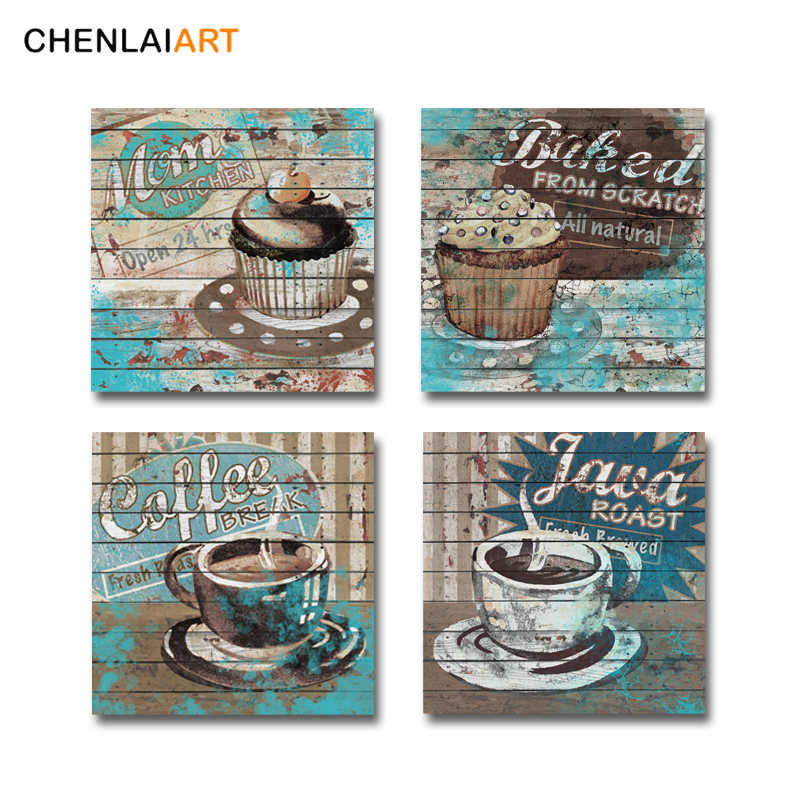 Canvas Painting Wall Art Modern Mons Cake Baked Coffee Picture Printed On Canvas Poster For Restaurant Kitchen Cafe No Frame