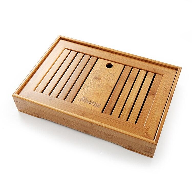 3 genre plateau en option boîte à lattes thé servant bambou plateau bambou thé Table chinois thé ensemble bambou eau thé plateau