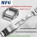 Correa de reloj de Metal bezelStrap DW5600 GWM5610GW5000 correa de reloj de acero inoxidable marco gshock pulsera Accesorio con herramienta de reparación
