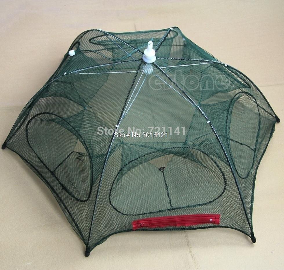 Hot New Portable Folded Fishing Fish Trap Net Mesh Baits Cast Shrimp Minnow Crab