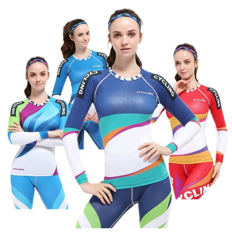 women long sleeve ice hockey jersey tops spandex sublimation girls teenage hockey team shirts clothing WFL