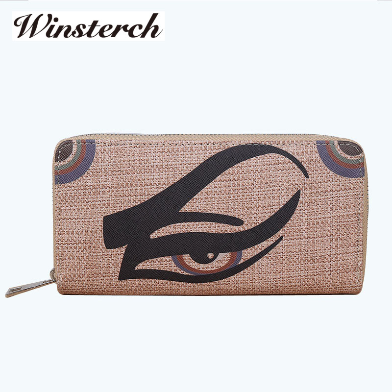 Vintage Women Money Leather Wallet Brand Animal Pattern Card Holders Ladies Zipper Coin Clutch Purse Carteras Mujer Y040