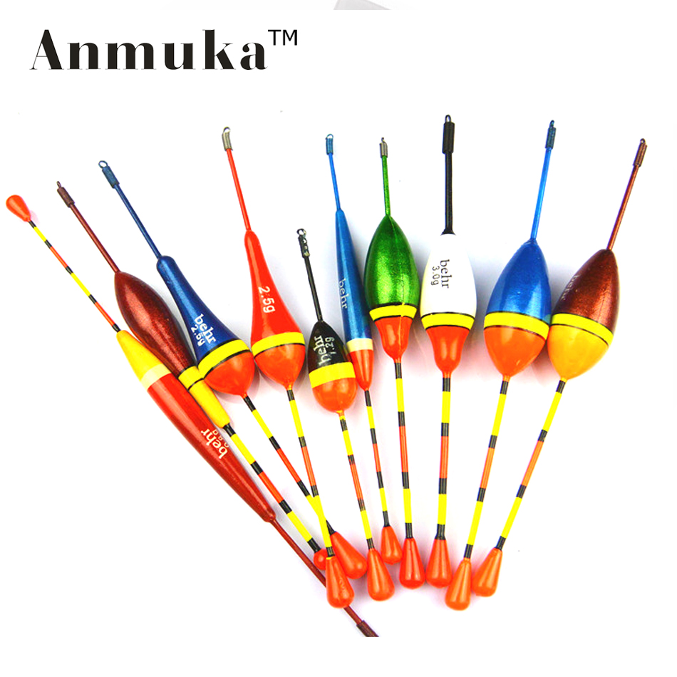 Anmuka 10pcs lots fishing lure floats bobbers slip drift for Fishing bobbers bulk