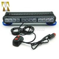 Đôi Bên 24 LED xe roof thận trọng lightbar Strobe ánh sáng đèn flash đèn Khẩn Cấp Xe Ánh Sáng 24 led ánh sáng đèn hiệu Hổ Phách màu xanh đ