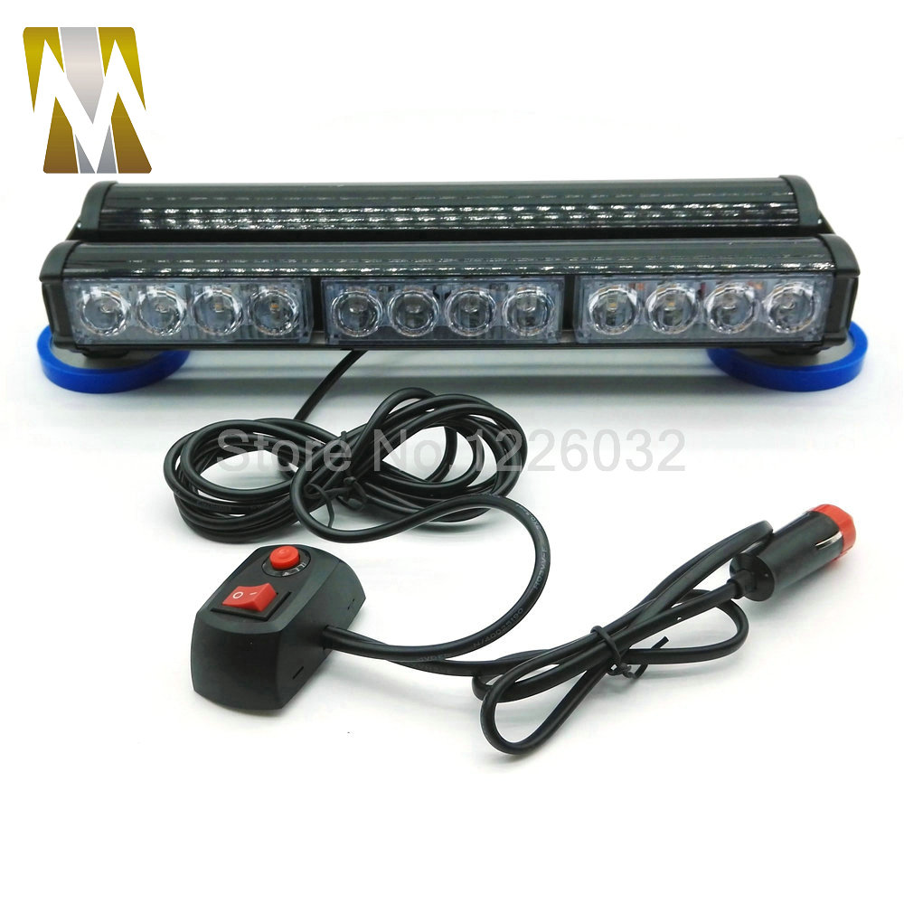 Double Sides 24 LED car roof caution lightbar Strobe light flash lamp Emergency Vehicle Light 24 led beacon light Amber blue red new coming led lightbar 240 led 20w beacon light with magnets emergency strobe light bar dc12v led warning light