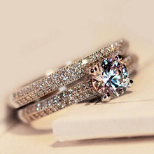 ZN 2019 New Hot Cubic Zirconia Luxury Wedding Ring Set for Women Promise Engagement Fashion Jewelry