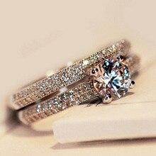 ZN 2019 New Hot Cubic Zirconia Luxury Wedding Ring Set for W