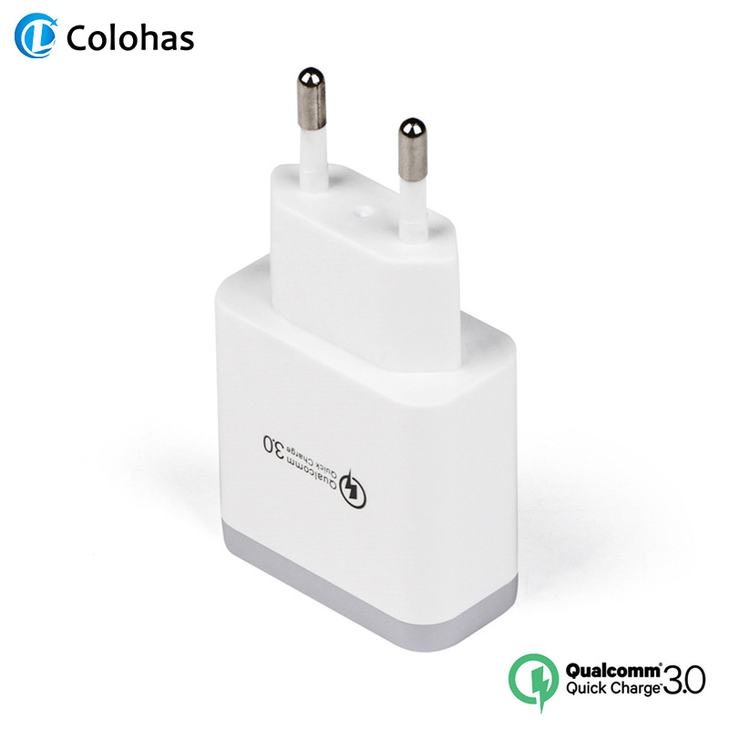 Colohas QC 3 0 USB Charger Adapter EU Plug Fast Charger for iPhone X Xs MAX XR Quick Charging for Samsung Xiaomi Phone Charger in Mobile Phone Chargers from Cellphones Telecommunications
