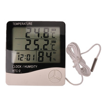 Buy Indoor and outdoor temperature and humidity with probes, large LCD screen electronic thermometer, humidity, free shipping