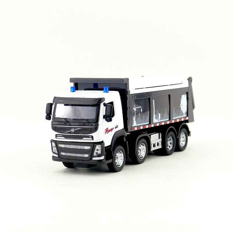 1:50 Scale/Diecast Model/Volvo Dump Truck Car/Engineering Toy/Sound & Light/Educational Collection For Children/Gift/Limited