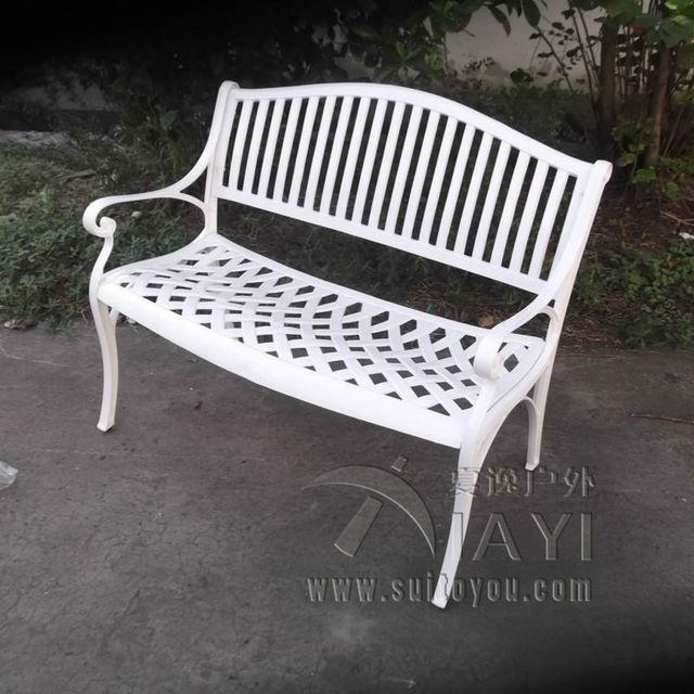2 plazas de lujo durable de aluminio fundido parque silla muebles de ...
