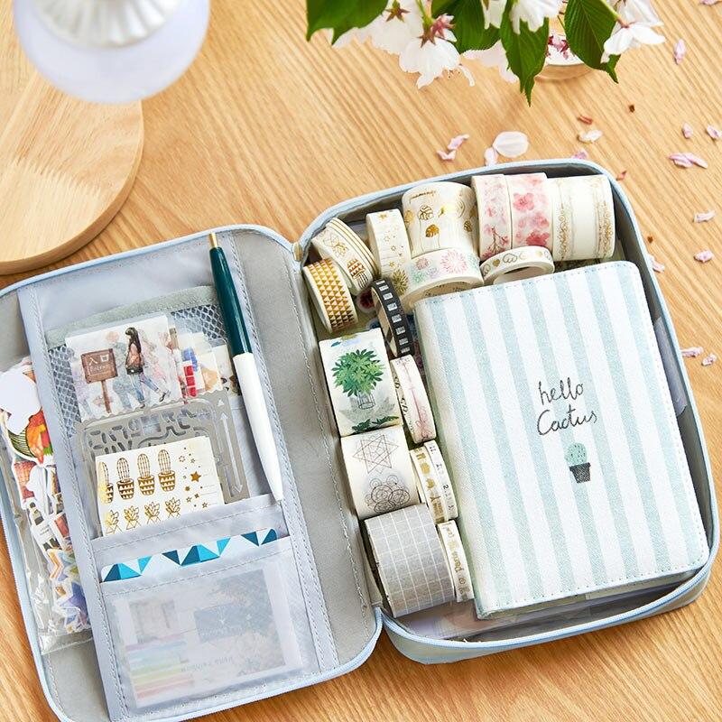 Kawaii lápiz caso Multi-función de gran capacidad caja de la pluma de regalo de bolsa de almacenamiento de lindo carttoon para el Ipad de teléfono de la escuela papelería